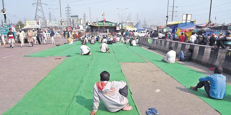 Impact of farmer leader Rakesh Tikait's absence is visible as crowd at the Ghazipur protest in Delhi has seen a dip.
