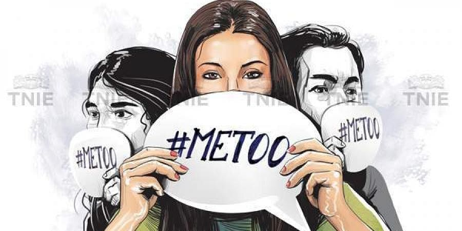 Representational image of the #Metoo campaign