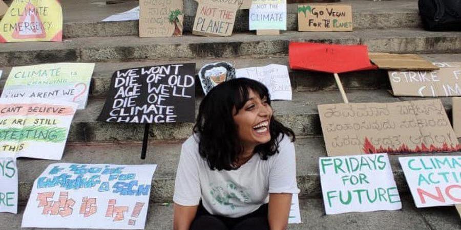 Climate activist Disha Ravi. (Photo| Twitter/ @KartiPC)