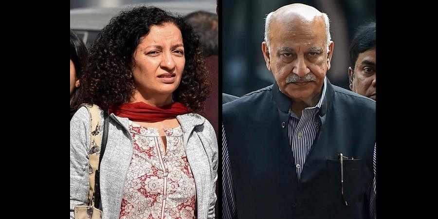 Journalist Priya Ramani and former Union Minister MJ Akbar. (File | PTI)