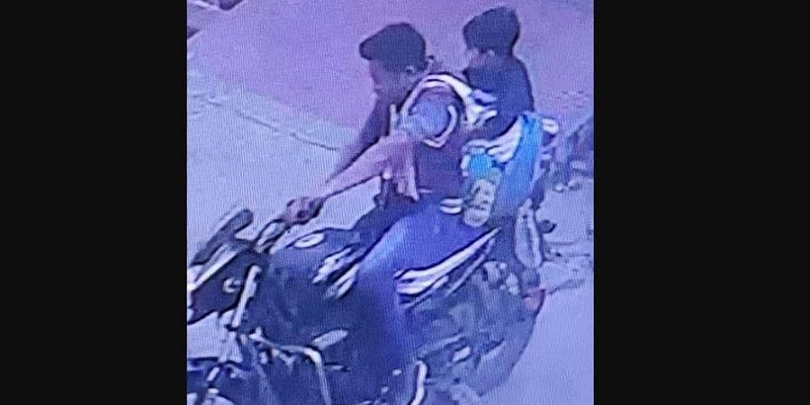 CCTV footage of the boy being kidnapped.