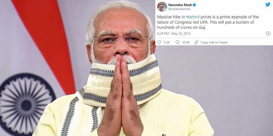 PM NARENDRA MODI: Massive hike in #petrol prices is a prime example of the failure of Congress-led UPA. This will put a burden of hundreds of crores on Guj.