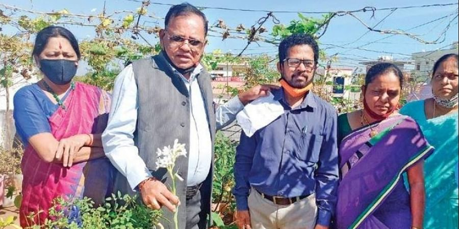 Flowers and vegetables grown by Bhadrachalam residents on their rooftops