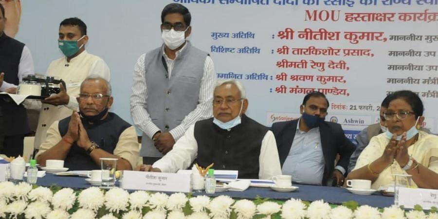 Bihar CM Nitish Kumar at the inaugration of E-Sanjeevani services