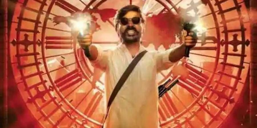Dhanush in a poster of 'Jagame Thandhiram.'