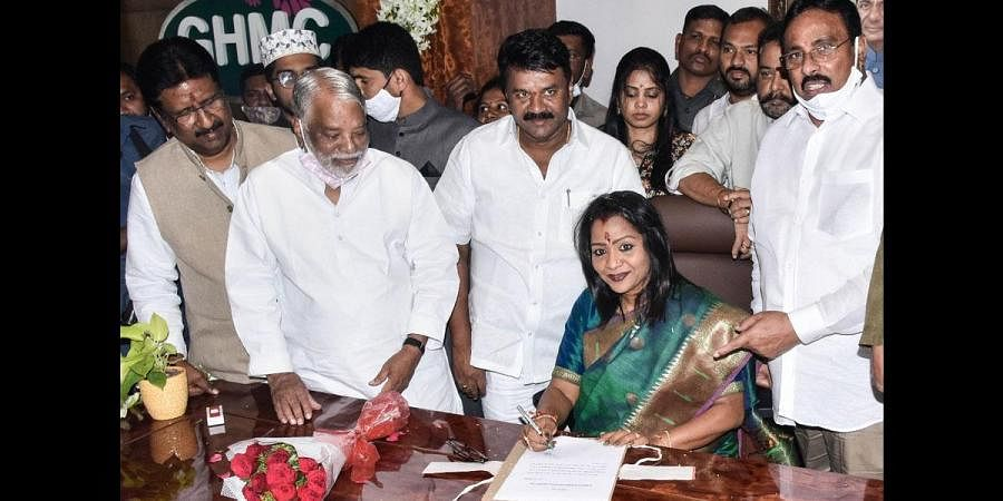 Mayor Gadwal Vijayalakshmi assume charge on Monday. (Photo | Vinay Madapu, EPS)