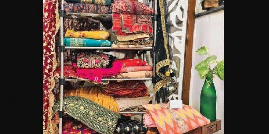 Saroj Verma sources textiles from local artisans across India for her brand