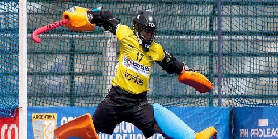 Indian women's hockey goalkeeper Bichu Devi Kharibam