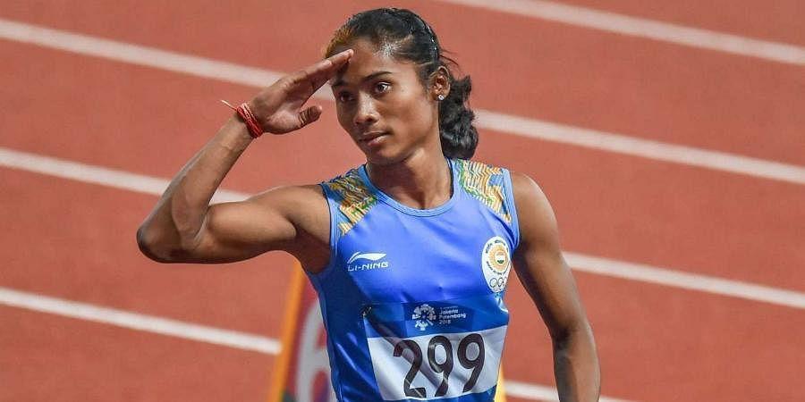 Indian ace sprinter Hima Das