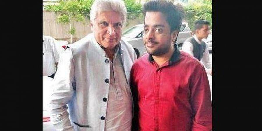 Ankur Gupta with Javed Akhtar