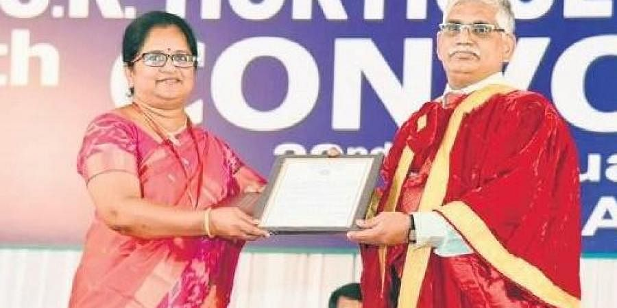 Department of Agriculture Research and Education secretary Dr Trilochan Mohapatra  at the fourth convocation of YSR Horticulture University at Venkataramannagudem in West Godavari district.