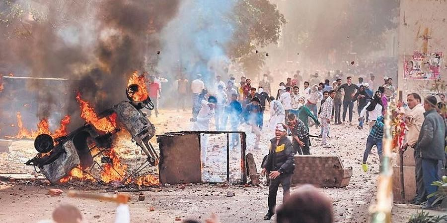 Communal violence broke out in Northeast Delhi during protests against CAA.