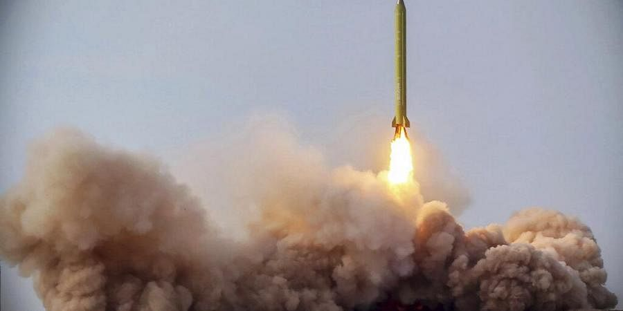 In this file photo released Jan. 16, 2021, by the Iranian Revolutionary Guard, a missile is launched in a drill in Iran. (Photo | AP)