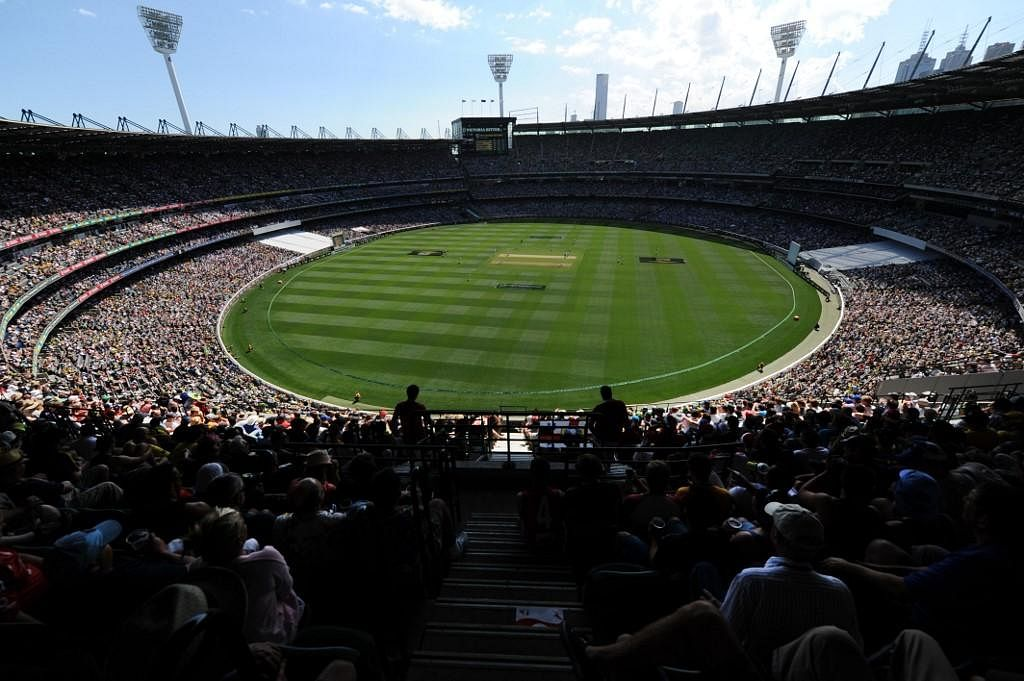 A large crowd attends the MCG to watch the Boxing Day match. (Photo | AFP)