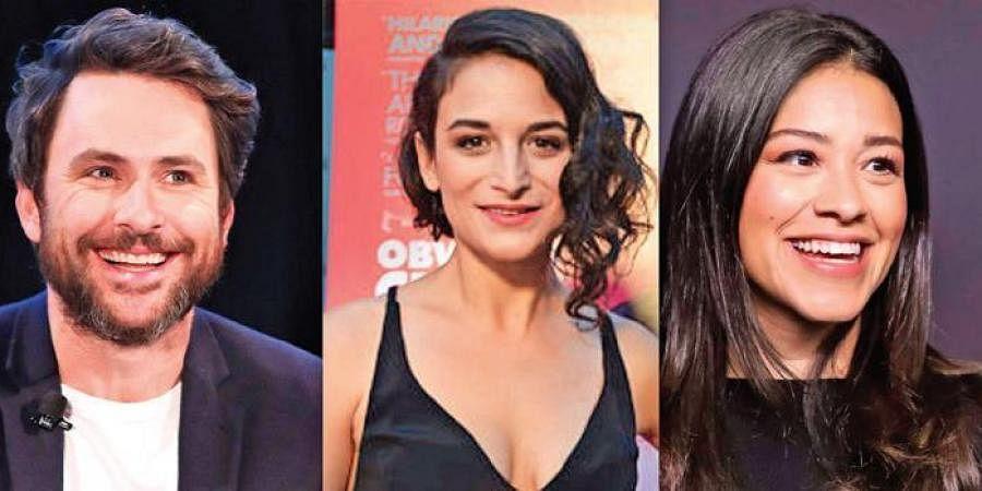 Actors Charlie Day, Jenny Slate, Gina Rodriguez
