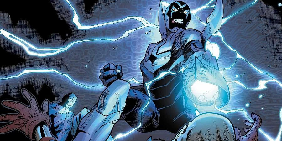 'Blue Beetle' is one of the oldest comic book superheroes, first appearing as a Fox Comics character in 1939 from creator Charles Wojtkowski.