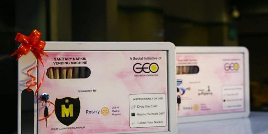 sanitary pads vending machine
