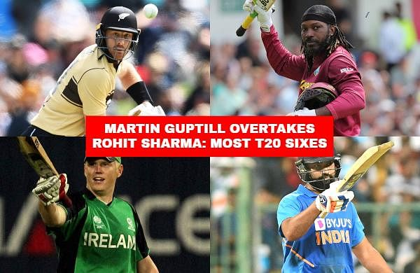 New Zealand batsman Martin Guptill broke India opener Rohit Sharma's record of most sixes in the shortest format of the game when he whacked eight maximums to announce his return to form. Check out the top 25 cricketers who have hit the most numbers of sixes in T20Is.