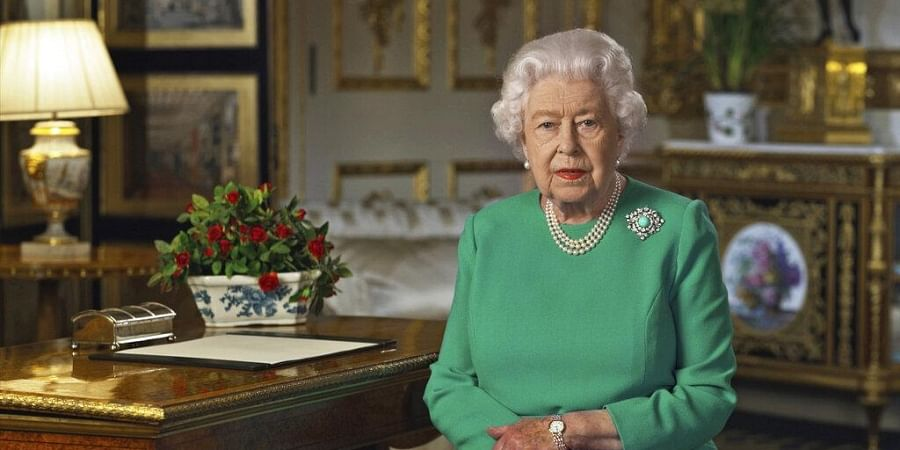 Queen Elizabeth II made a rare address, calling on Britons to rise to the challenge of the coronavirus pandemic, to exercise self-discipline in 'an increasingly challenging time'. (Photo | AP)