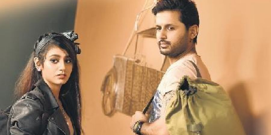 Priya Prakash Varrier and Nithiin in Telugu film, 'Check'