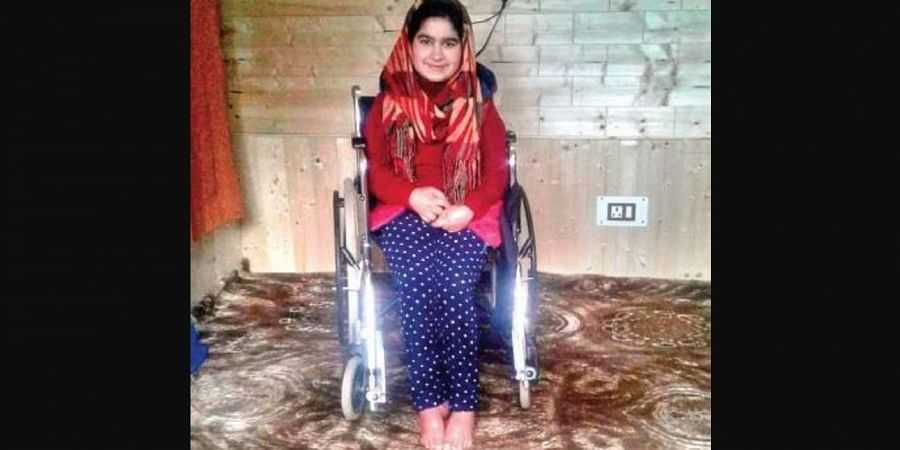Tabia Iqbal has been suffering hearing and speech impairment since birth. (Photo | EPS)