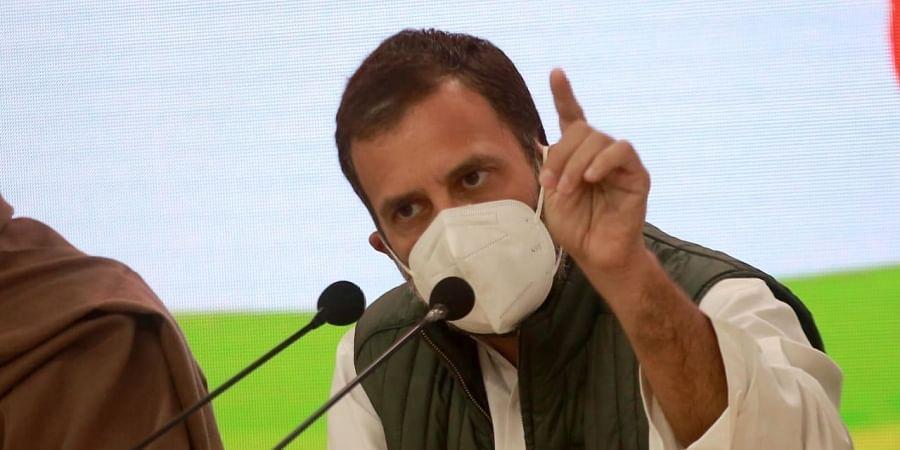 Rahul Gandhi addresses a press conference. (Photo   Shekhar Yadav, EPS)