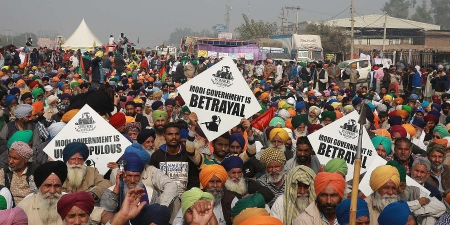Thousands of farmers, mainly from Punjab, Haryana and UP, have been protesting for over two months at Delhi's borders demanding rollback of the Farmers Produce Trade and Commerce (Promotion and Facilitation) Act, 2020, the Farmers (Empowerment and Protection) Agreement on Price Assurance and Farm Services Act, 2020 and the Essential Commodities (Amendment) Act, 2020.