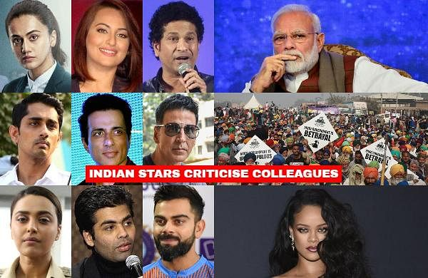 A clear divide between Bollywood celebrities was visible as Taapsee Pannu, Swara Bhasker, Siddharth criticised similarly worded tweets by stars like Akshay Kumar and Ajay Devgn in response to pop star Rihanna's post drawing attention to the farmers' agitation in India.