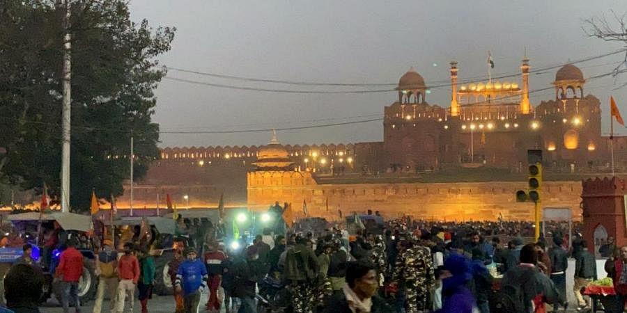 Security tightens at Redfort, in New Delhi