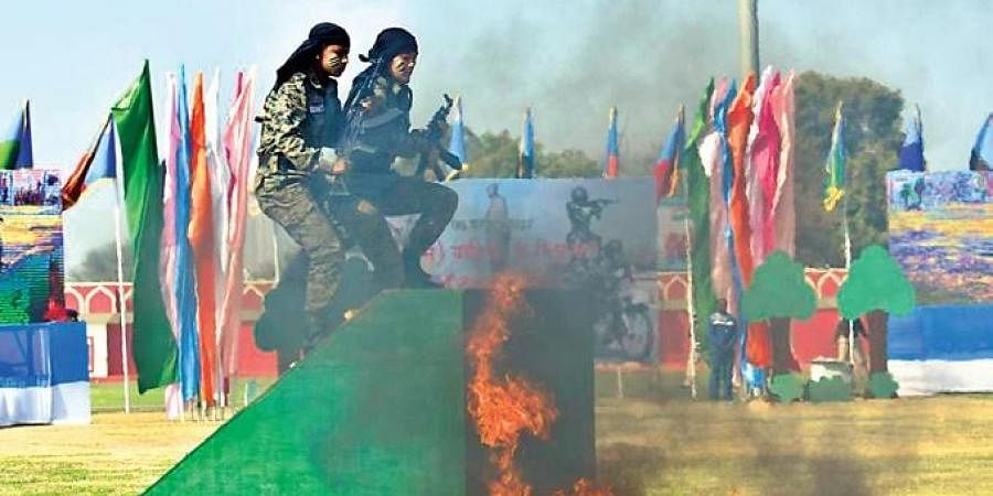 CRPF women take part in drills after being inducted into CoBRA | EXPRESS