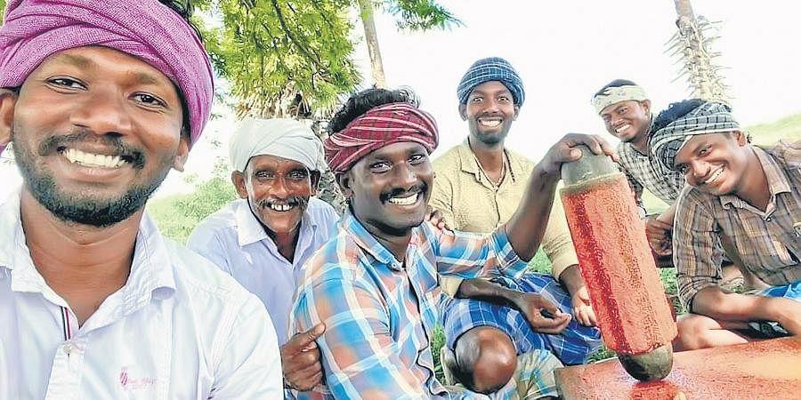 Members of Village Cooking Channel at Chinna Veeramangalam in Pudukkottai.