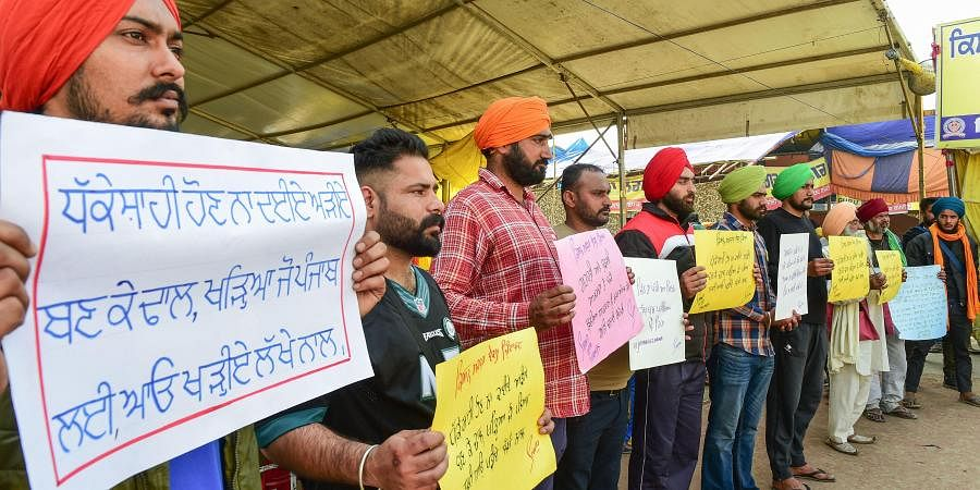 Thousands of agitating farmers, mostly from Punjab, Haryana and western Uttar Pradesh, have been camping at three Delhi border points --- Singhu, Tikri and Ghazipur --- for over 70 days. (Photo | PTI)