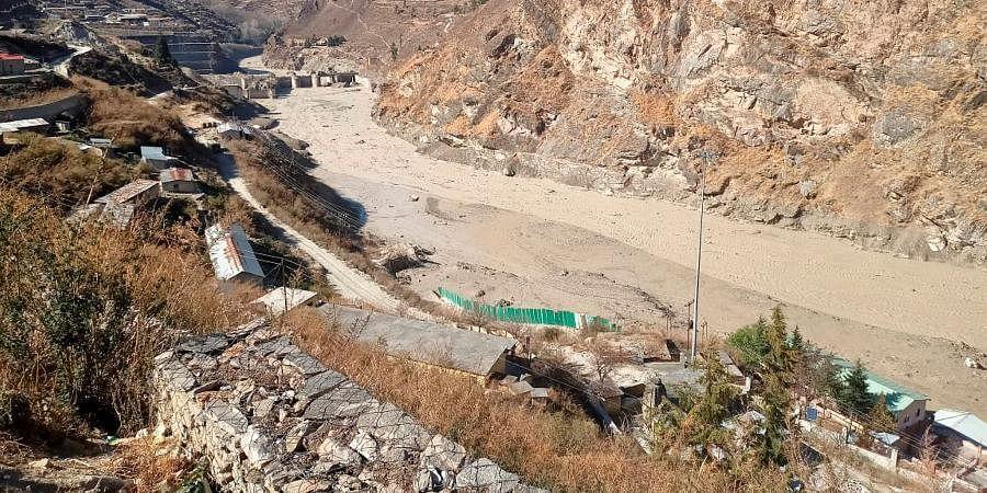 Flash flood after a glacier broke off in Joshimath causing a massive flood in the Dhauli Ganga river in Chamoli district of Uttarakhand.