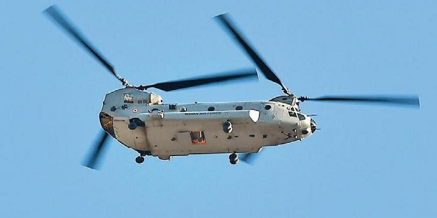 An IAF Chinook helicopter.