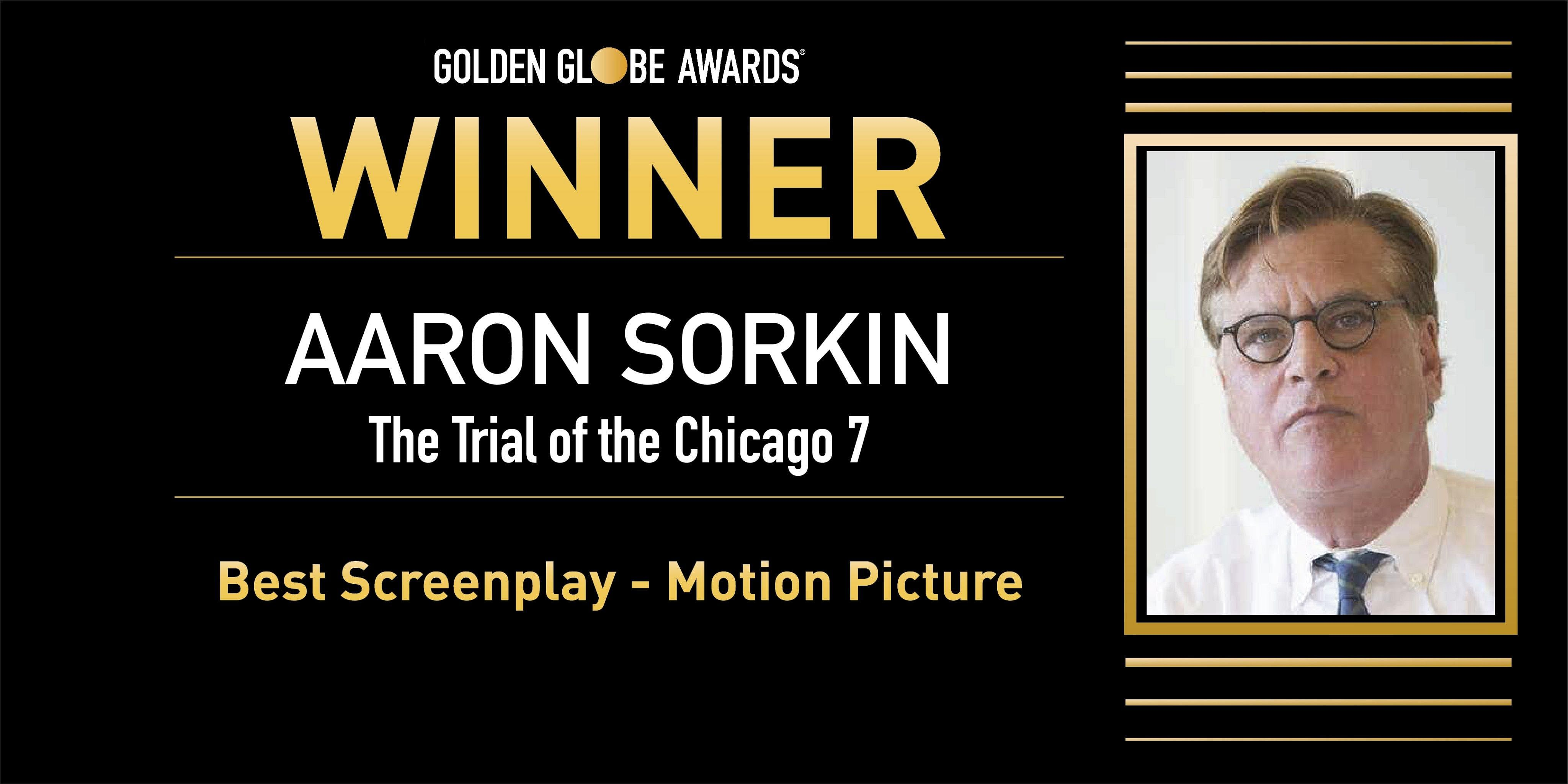 Critically acclaimed screenwriter Aaron Sorkin won the award for best screenplay - motion picture. (Photo | AP)