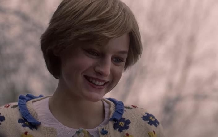 Actress Emma Corrin, as Princess Diana (in pic), won the award for best performance by an actress in a television series — Drama. (Photo | YouTube screengrab)
