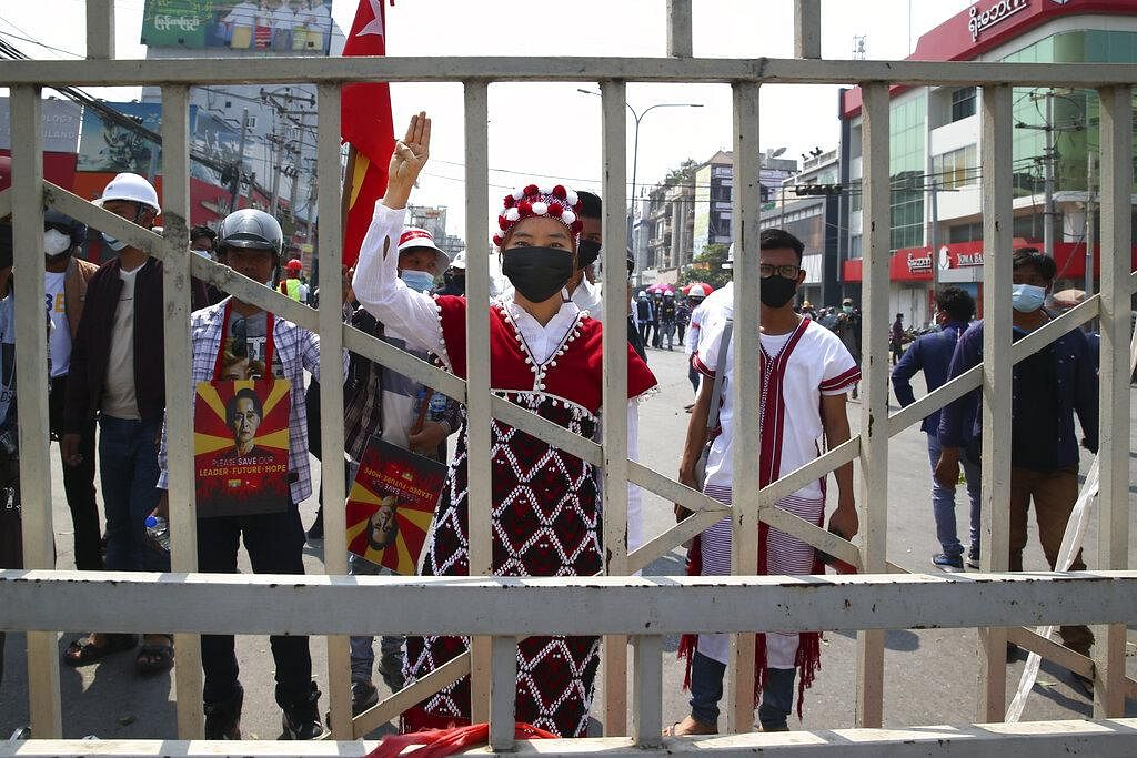 Be it, civil servants, workers at enterprises such as the state railway or people from various ethnic groups or even Myanmar's enthusiastic generation Z youngsters, the country responded with a decisive 'no' to the coup. (Photo | AP)
