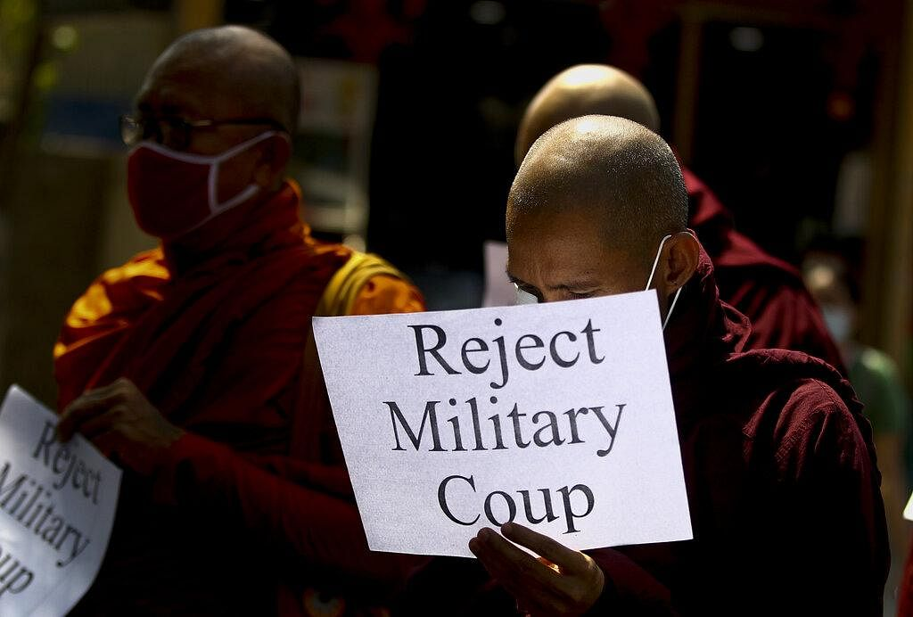In clinging to power over the years, the army used lethal force to quash a massive 1988 uprising and a 2007 revolt led by Buddhist monks. (Photo | AP)