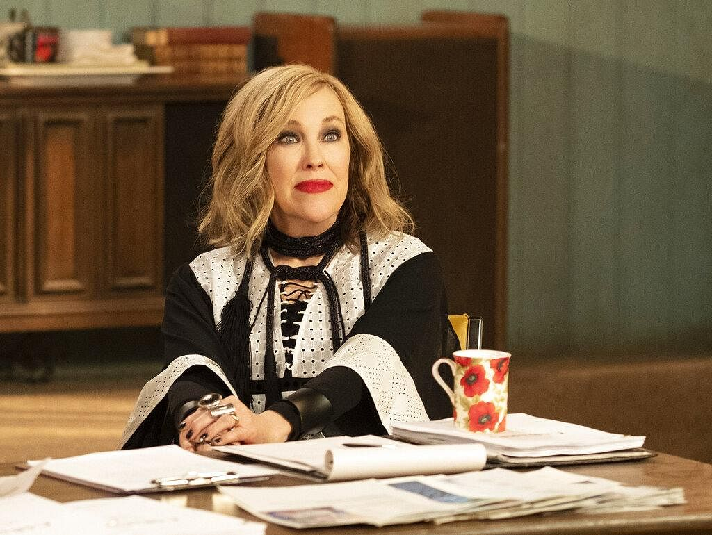 Catherine O'Hara, as Moira from Schitt's Creek, won award for the best performance by an actress in a television series - musical or comedy. (Photo | AP)