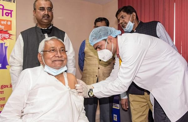 Bihar CM Nitish Kumar gets first dose of Covid-19 vaccine on 70th birthday