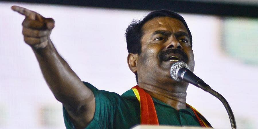 Naam Tamilar Katchi (NTK) party chief coordinator Senthamizhan Seeman. (Photo   Debadatta Mallick, EPS)