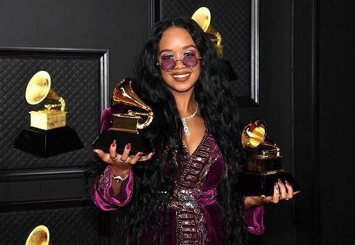 H.E.R. won the award for 'Song Of The Year' for 'I Can't Breathe' and best R&B song at the 63rd annual Grammy Awards