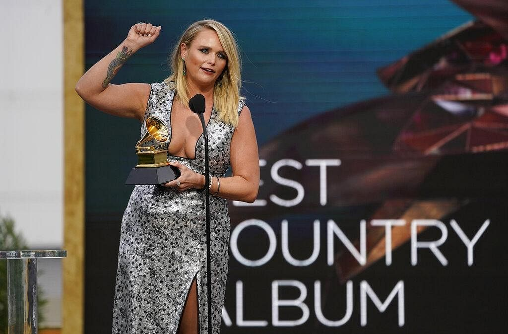 Miranda Lambert took home the award for 'Best Country Album' for 'Wildcard' at the 63rd annual Grammy Awards