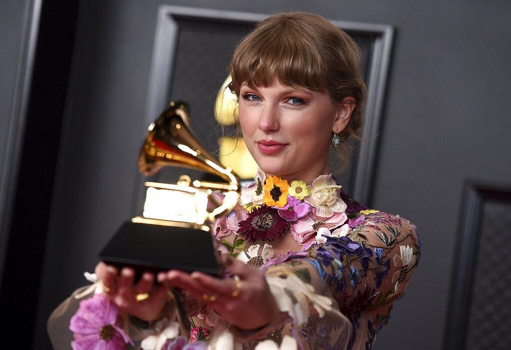 Taylor Swift made history at the 63rd annual Grammys as she bagged an award for 'Folklore' and became the first female performer to win 'Album Of The Year' three times.