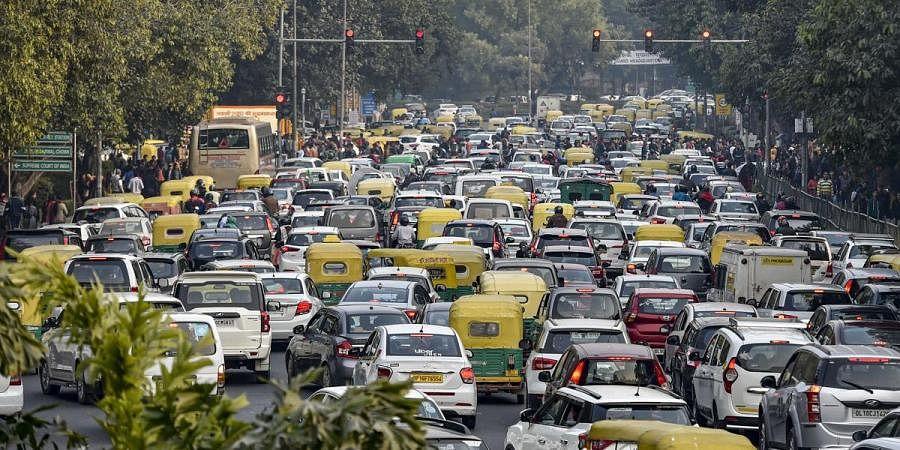 Traffic snarl in Delhi amid COVID-19 pandemic. (Photo| PTI)