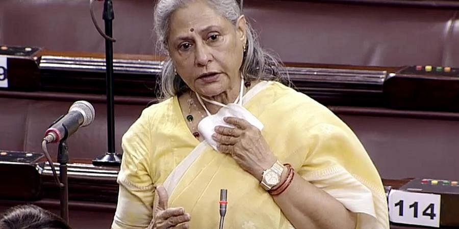 Samajwadi Party MP Jaya Bachchan speaks in Rajya Sabha during the budget session of parliament, in New Delhi on Thursday. (ANI