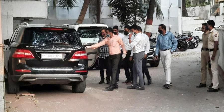 Two cars taken to National Investigation Agency office in connection with Sachin Waze case, in Mumbai