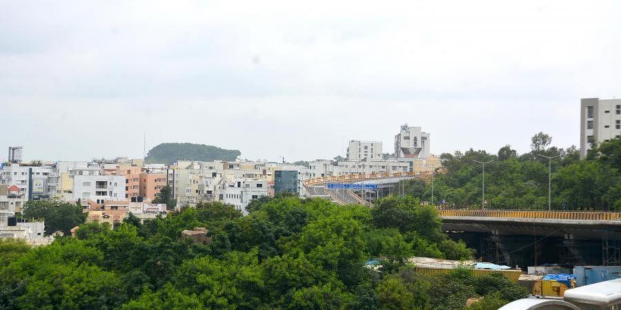 A view of Jubilee Hills from Durgam Cheruvu bridge
