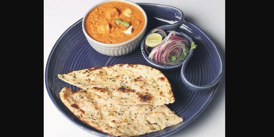 Butter Paneer Masala and Butter Garlic Naan Combo.