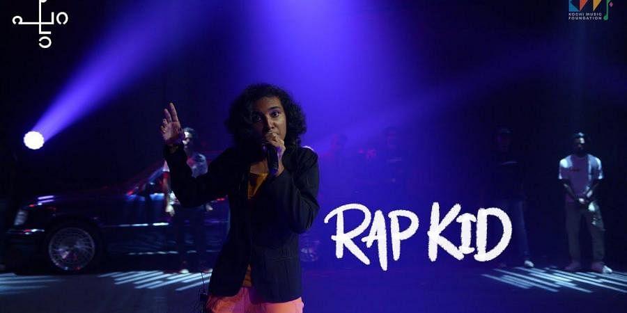 Aditi Nari aka Rap Kid performing at KMF's Hiphop festival